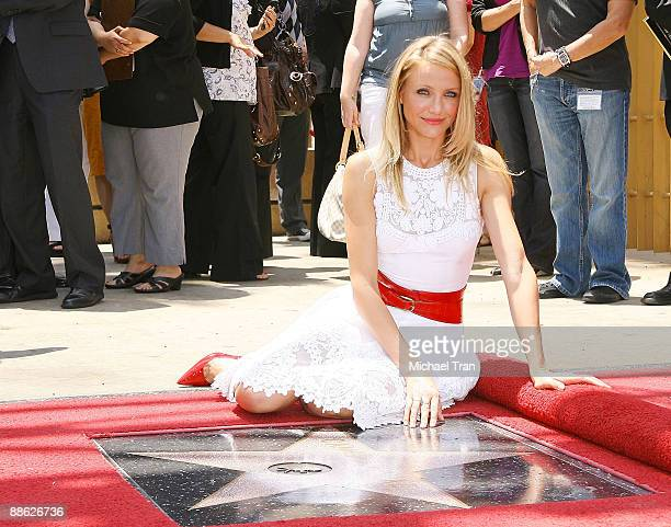 Actress Cameron Diaz attends the ceremony honoring of her with a star on the Hollywood Walk of Fame June 22, 2009 in Hollywood, California.