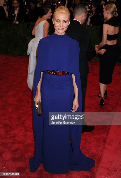 Actress Cameron Diaz attends the Costume Institute Gala for the 'PUNK Chaos to Couture' exhibition at the Metropolitan Museum of Art on May 6 2013 in...