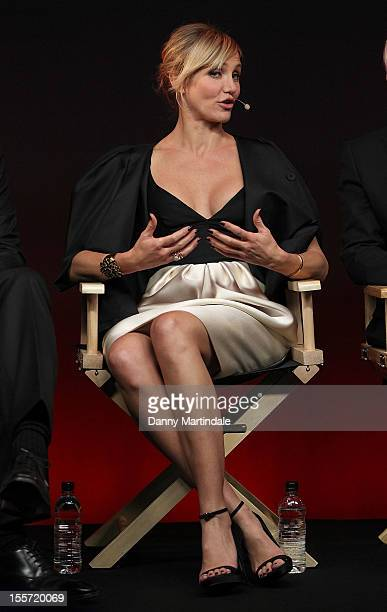 Actress Cameron Diaz attends the Meet The Filmmakers event for Gambit at Apple Store, Regent Street on November 7, 2012 in London, England.