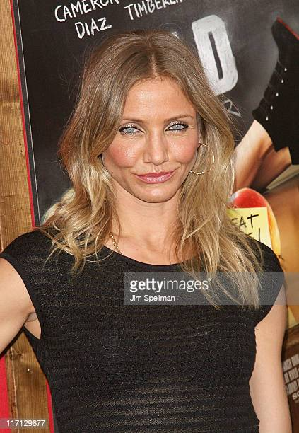 Actress Cameron Diaz attends the premiere of 'Bad Teacher' at the Ziegfeld Theatre on June 20 2011 in New York City