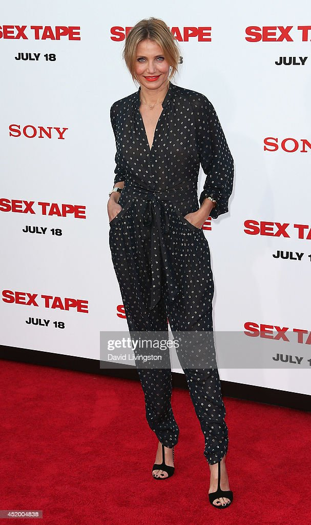 Actress Cameron Diaz attends the premiere of Columbia Pictures' 'Sex Tape' at the Regency Village Theatre on July 10, 2014 in Westwood, California.