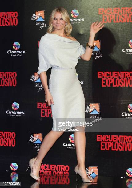 "Actress Cameron Diaz attends the premiere of ""Knight & Day"" at Cinemex Santa Fe on July 7, 2010 in Mexico City, Mexico."