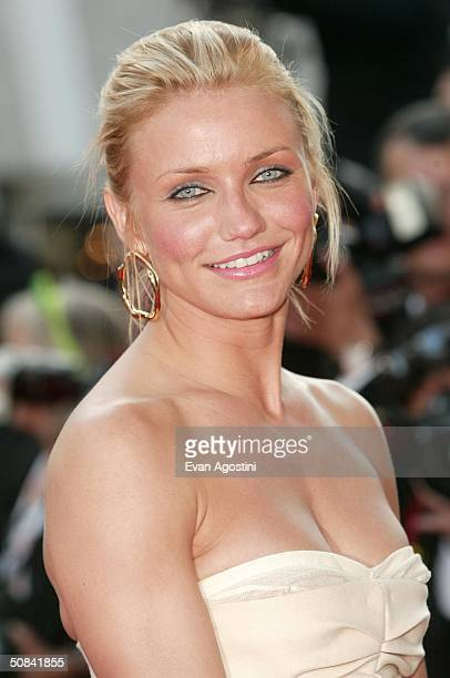 Actress Cameron Diaz attends the screening of the film Shrek 2 at the Palais des Festivals during the 57th International Cannes Film Festival May 15...