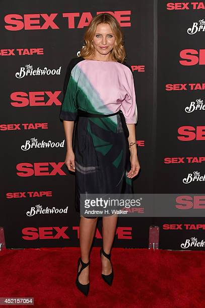 Actress Cameron Diaz attends the 'Sex Tape' screening at Regal Union Square on July 14 2014 in New York City