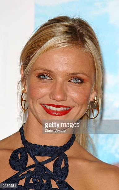 Actress Cameron Diaz attends the Spanish premiere of the new Charlie Angels movie at Kinepolis cinema July 2 2003 in Madrid Spain