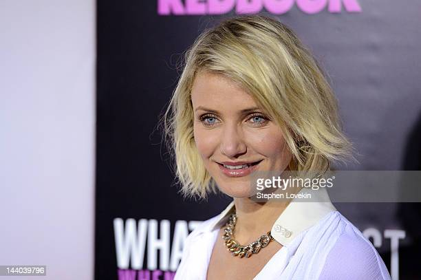 "Actress Cameron Diaz attends the ""What To Expect When You're Expecting"" New York Screening at AMC Lincoln Square Theater on May 8, 2012 in New York..."