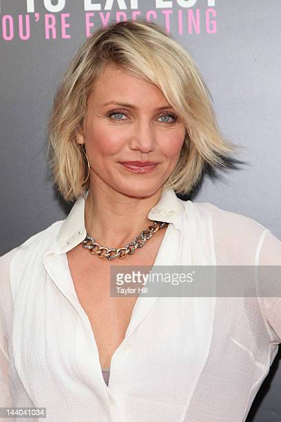 Actress Cameron Diaz attends the What To Expect When You're Expecting premiere at AMC Loews Lincoln Square on May 8 2012 in New York City