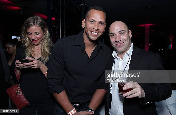 Actress Cameron Diaz MLB player Alex Rodriguez of the New York Yankees and Executive Managing Director and CEO of Cantor Real Estate Anthony Orso...