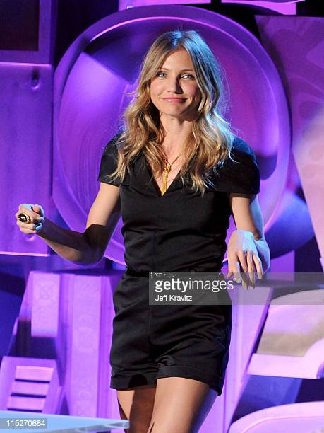 Actress Cameron Diaz onstage during the 2011 MTV Movie Awards at Universal Studios' Gibson Amphitheatre on June 5 2011 in Universal City California
