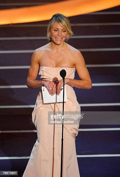 Actress Cameron Diaz onstage during the 80th Annual Academy Awards at the Kodak Theatre on February 24 2008 in Los Angeles California