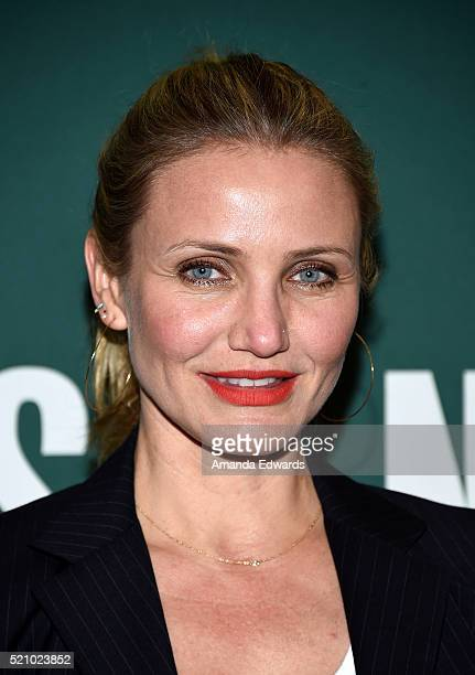 Actress Cameron Diaz poses before signing copies of her new book 'The Longevity Book The Science Of Aging The Biology Of Strength And The Privilege...