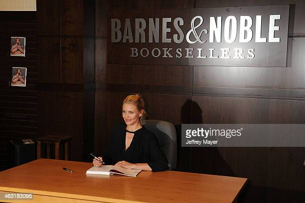 Actress Cameron Diaz signs copies of her new book 'The Body Book' at Barnes & Noble bookstore at The Grove on January 16, 2014 in Los Angeles,...