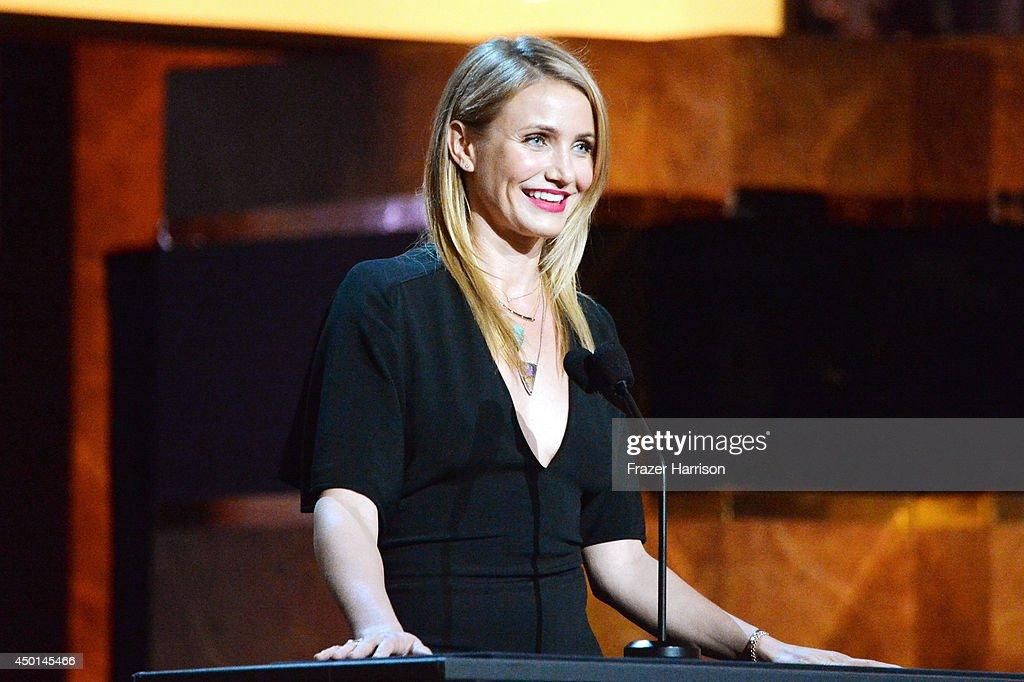 Actress Cameron Diaz speaks onstage at the 2014 AFI Life Achievement Award: A Tribute to Jane Fonda at the Dolby Theatre on June 5, 2014 in Hollywood, California. Tribute show airing Saturday, June 14, 2014 at 9pm ET/PT on TNT.