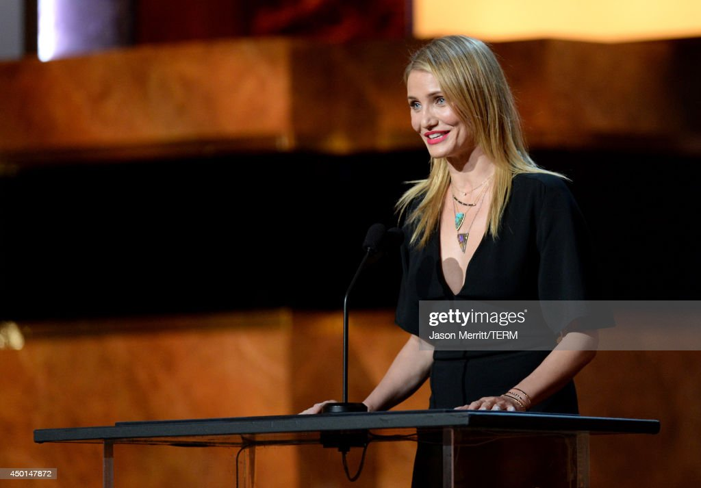 Actress Cameron Diaz speaks onstage during the 2014 AFI Life Achievement Award: A Tribute to Jane Fonda at the Dolby Theatre on June 5, 2014 in Hollywood, California. Tribute show airing Saturday, June 14, 2014 at 9pm ET/PT on TNT.