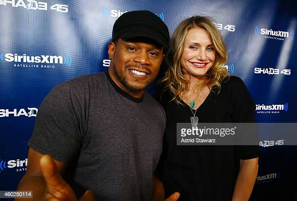 Actress Cameron Diaz visits 'Sway in the Morning' on Shade 45 with host Sway Calloway at the SiriusXM Studios on December 10 2014 in New York City