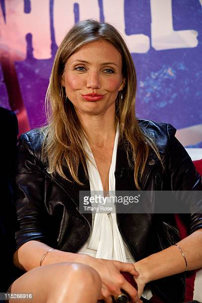 Actress Cameron Diaz visits YoungHollywoodcom to promote Bad Teacher at the Young Hollywood Studio on June 5 2011 in Los Angeles California
