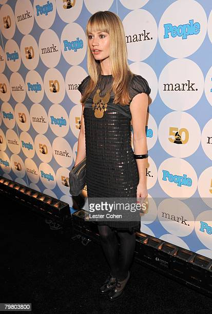 Actress Cameron Richardson arrives to the kick-off party for the 50th annual GRAMMY Awards at Avalon on December 6, 2007 in Hollywood, California....