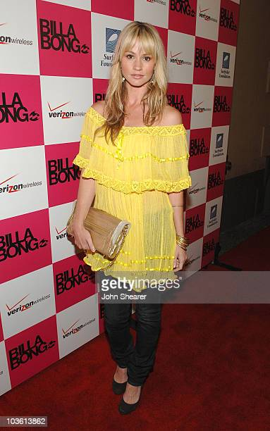 Actress Cameron Richardson attends Billabong's Design for Humanity event to benefit Surfrider Foundation at the Avalon on June 4 2008 in Hollywood...