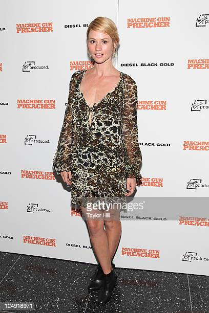 Actress Cameron Richardson attends the Machine Gun Preacher premiere at The Museum of Modern Art on September 13 2011 in New York City
