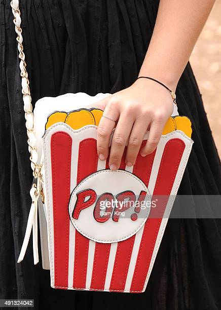 Actress Cami Raich purse detail attends the Premiere Of Sony Entertainment's 'Goosebumps' at the Regency Village Theater on October 4 2015 in...