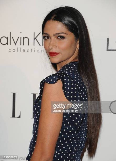 Actress Camila Alves arrives at ELLE's 18th Annual Women in Hollywood Tribute held at the Four Seasons Hotel on October 17, 2011 in Los Angeles,...