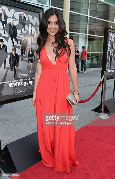 Actress Camila Banus attends a special screening of Summit Entertainment's Now You See Me at the ArcLight Theaters Hollywood on May 23 2013 in...