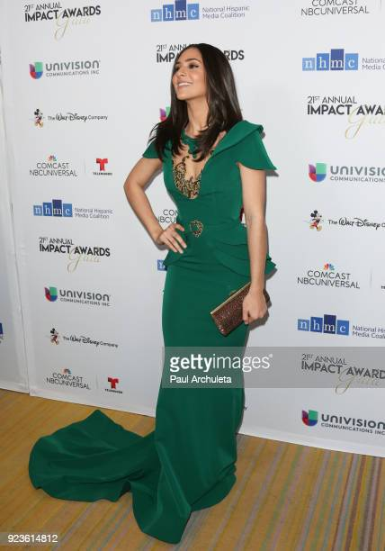 Actress Camila Banus attends the National Hispanic Media Coalition's 21st annual Impact Awards at the Beverly Wilshire Four Seasons Hotel on February...
