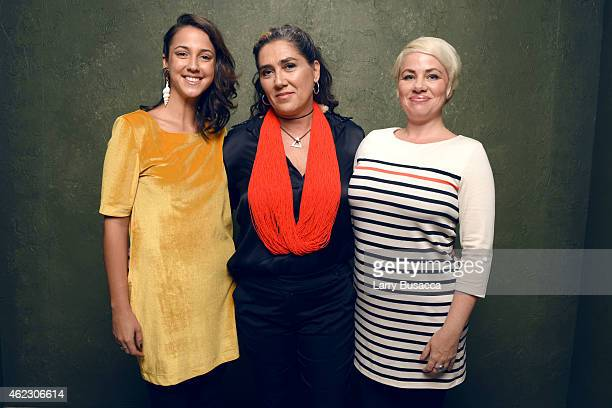 Actress Camila Mardila filmmaker Anna Muylaert and actress Karine Teles of 'The Second Mother' pose for a portrait at the Village at the Lift...