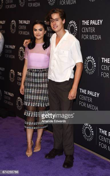 Actress Camila Mendes and actor Cole Sprouse arrive at the 2017 PaleyLive LA Spring Season Riverdale Screening and Conversation at The Paley Center...
