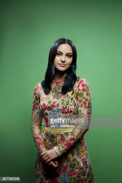 Actress Camila Mendes from the television series 'Riverdale' is photographed in the LA Times photo studio at ComicCon 2017 in San Diego CA on July 22...