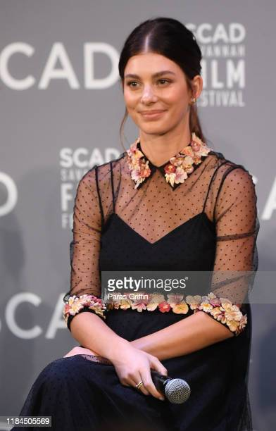 Actress Camila Morrone speaks onstage during the Breakout Awards panel at the 22nd SCAD Savannah Film Festival on October 30, 2019 at Gutstein...