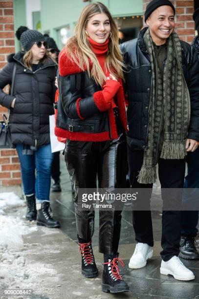 Actress Camila Morrone walks in Park City on January 22 2018 in Park City Utah
