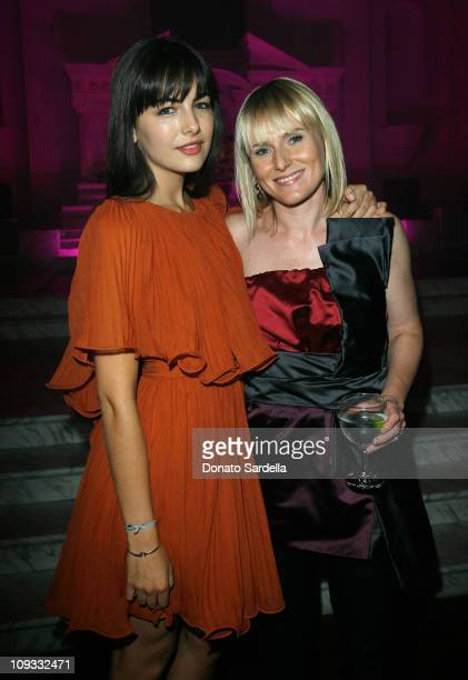 Actress Camilla Belle and Editor in Chief of Teen Vogue Amy Astley inside the Teen Vogue Young Hollywood at Vibiana on September 20 2007 in Los...