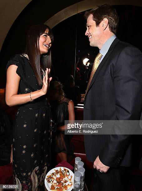 Actress Camilla Belle and Endeavor agent Patrick Whitesell attend the after party for the premiere of Warner Bros Pictures' 10000 BC on March 5 2008...