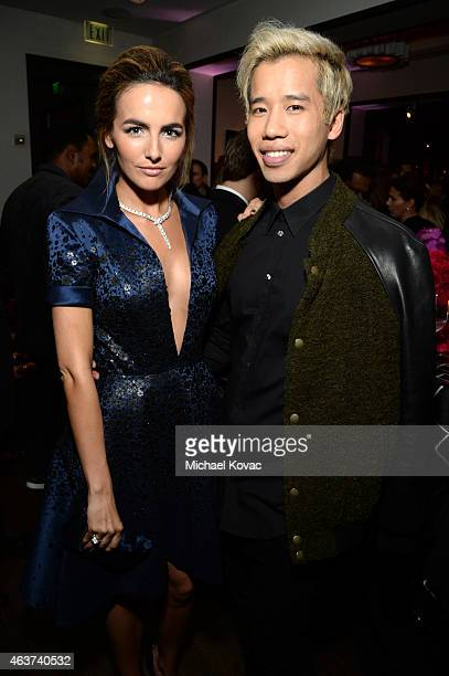 Actress Camilla Belle and Jared Eng attend BVLGARI and Save The Children STOP THINK GIVE PreOscar Event at Spago on February 17 2015 in Beverly Hills...