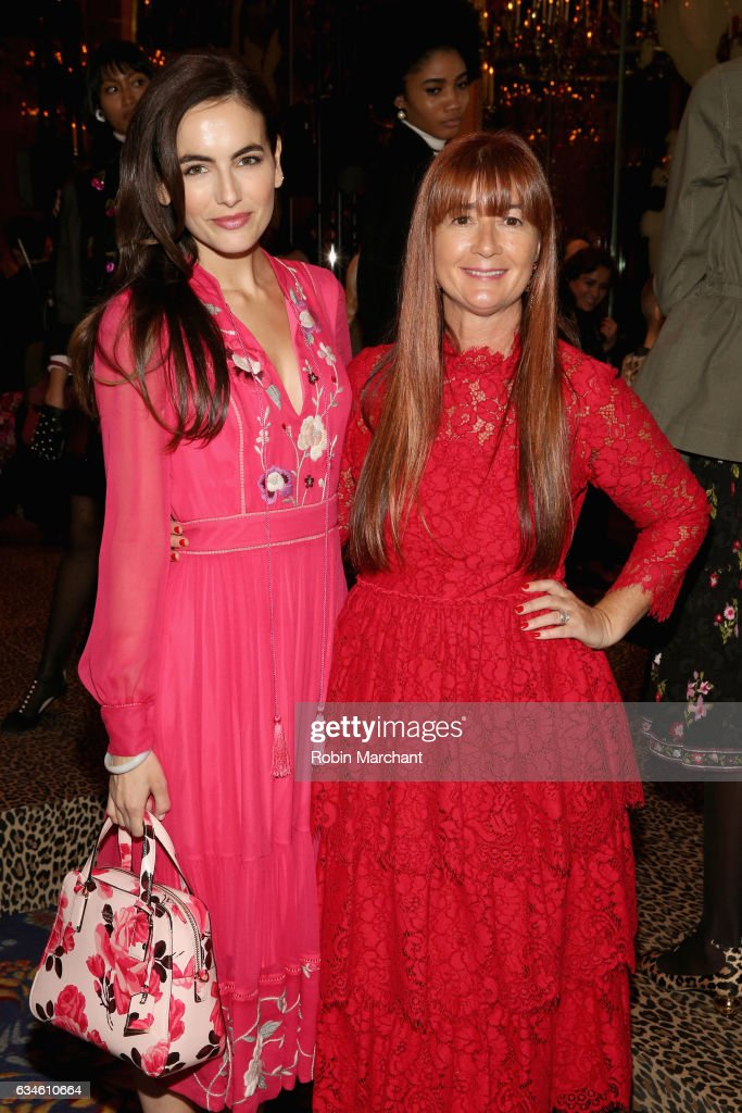 Actress Camilla Belle (L) and kate spade new york Chief Creative Officer Deborah Lloyd pose at kate spade new york Spring 2017 Fashion Presentation at Russian Tea Room on February 10, 2017 in New York City.