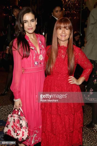 Actress Camilla Belle and kate spade new york Chief Creative Officer Deborah Lloyd pose at kate spade new york Spring 2017 Fashion Presentation at...