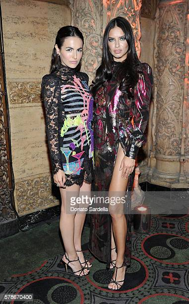 Actress Camilla Belle and model Adriana Lima attend Marc Jacobs celebrates Divine Decadence at on July 21 2016 in Los Angeles California
