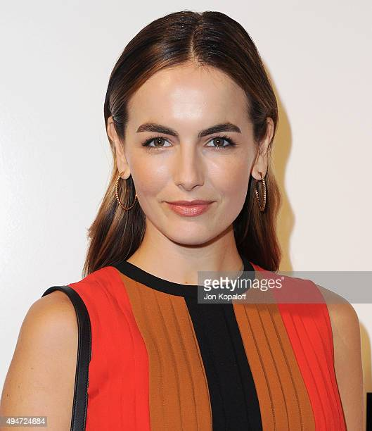 Actress Camilla Belle arrives at MOCA's 9th Awards To Distinguished Women In The Arts at the Beverly Wilshire Four Seasons Hotel on October 28 2015...