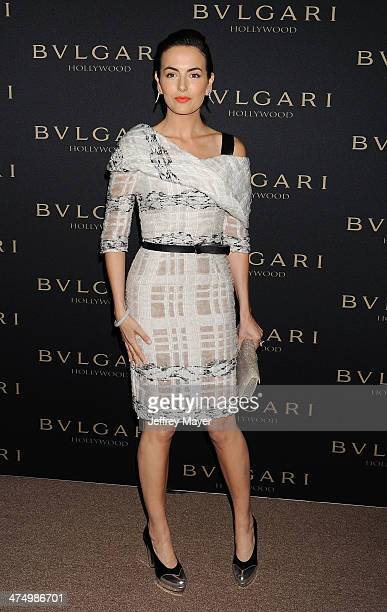Actress Camilla Belle arrives at the BVLGARI 'Decades Of Glamour' Oscar Party Hosted By Naomi Watts at Soho House on February 25 2014 in West...