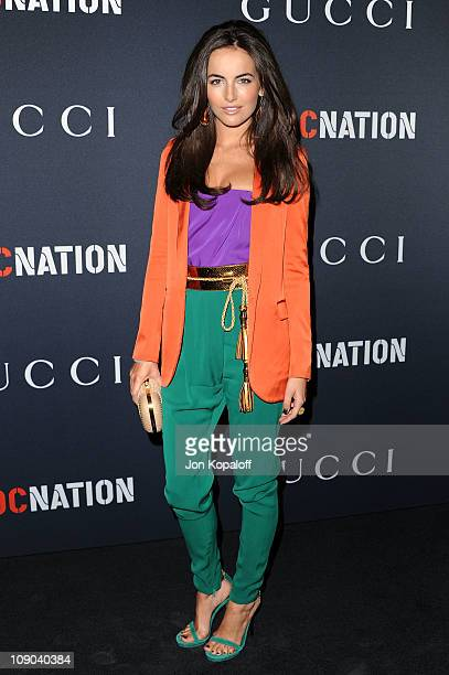 Actress Camilla Belle arrives at the Gucci And RocNation Host PreGrammy Brunch At Soho House at Soho House on February 12 2011 in West Hollywood...