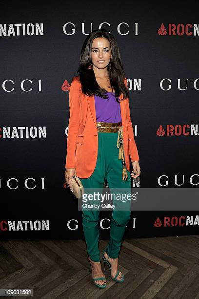 Actress Camilla Belle arrives at the Gucci and RocNation PreGRAMMY brunch held at Soho House on February 12 2011 in West Hollywood California