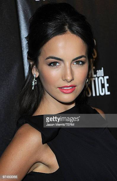 Actress Camilla Belle arrives at the Hollywood Domino's 3rd annual preOscar Hollywood gala on March 4 2010 in Beverly Hills California