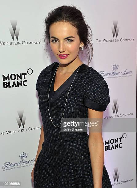 Actress Camilla Belle arrives at the Montblanc Cocktail Party cohosted by Harvey and Bob Weinstein celebrating the Weinstein Company's Academy Award...