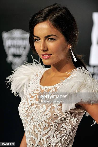 Actress Camilla Belle arrives at the Rodeo Drive Walk of Style Award honoring Princess Grace of Monaco and Cartier on October 22 2009 in Beverly...