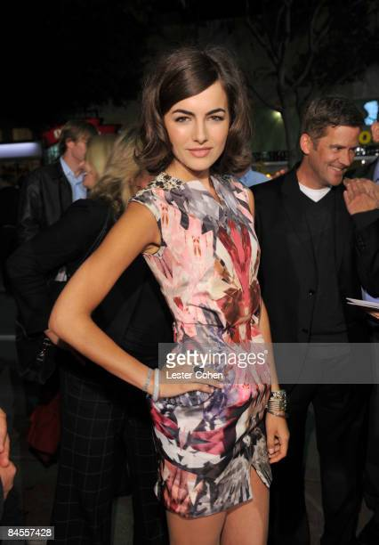 """Actress Camilla Belle arrives on the red carpet of the Los Angeles premiere of """"Push"""" at the Mann Village Theater on January 29, 2009 in Westwood,..."""