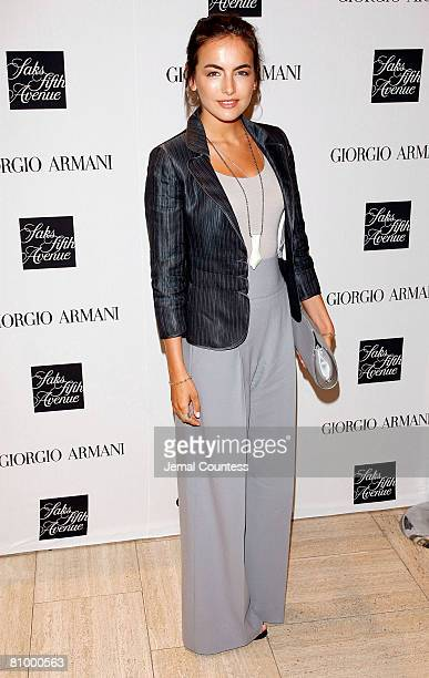 """Actress Camilla Belle at Saks Fifth Avenue in New York City """"Armani Backstage"""" by Roger Hutchinngs book signing at Saks Fifth Avenue on May 5, 2008..."""