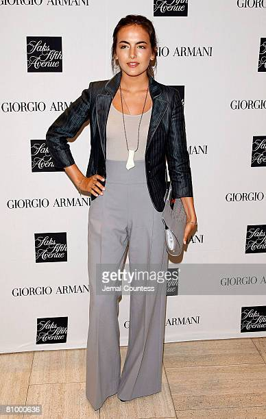 """Actress Camilla Belle at Saks Fifth Avenue in New York City fo rthe """"Armani Backstage"""" by Roger Hutchinngs book signing at Saks Fifth Avenue on May..."""