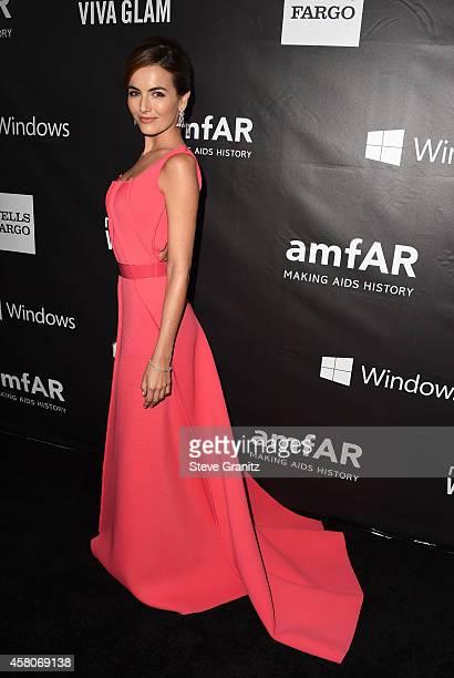 Actress Camilla Belle attends amfAR LA Inspiration Gala honoring Tom Ford at Milk Studios on October 29 2014 in Hollywood California