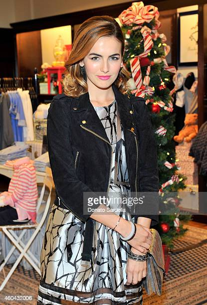 Actress Camilla Belle attends as Brooks Brothers celebrates the holidays with St Jude Children's Research Hospital and Town Country at Brooks...
